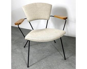 Unique Mid Century Modernist Iron Lounge Chair 1950s