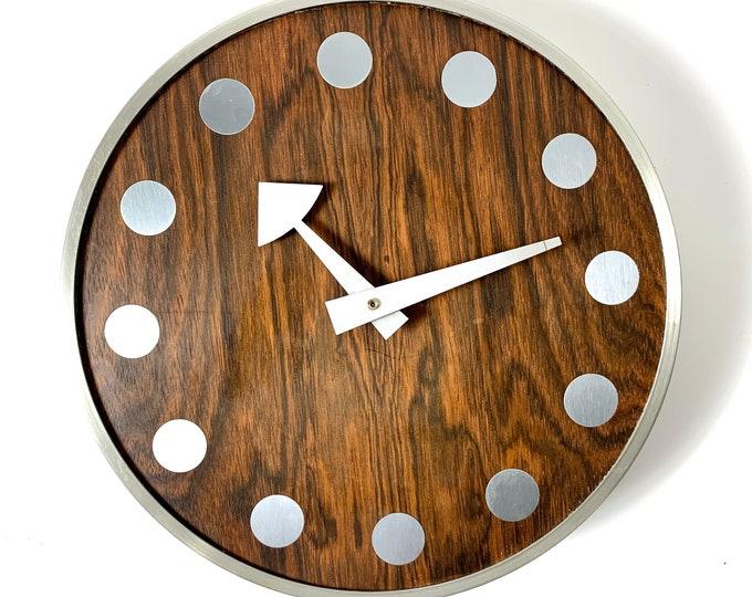Arthur Umanoff Howard Miller Rosewood Clock 1960's
