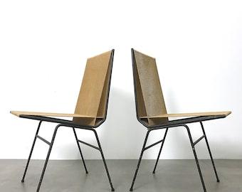 Pair Allan Gould String Chairs 1952