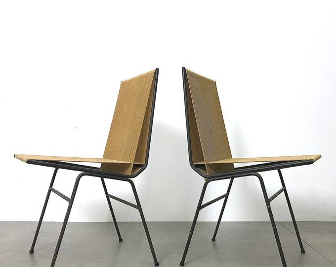 Pair Allan Gould String Chairs 1952