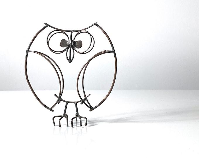 Modernist Wire Owl Sculpture 1960s