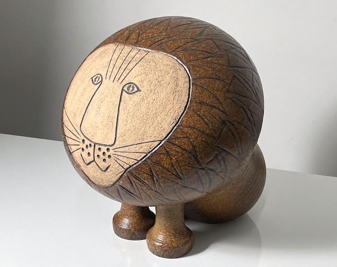 "ON HOLD 15"" Large Vintage Lisa Larson Ceramic Lion Sculpture 1970s"