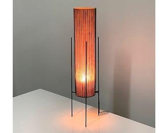 Vintage Mid Century Modern Iron Tripod Table Lamp 1950s
