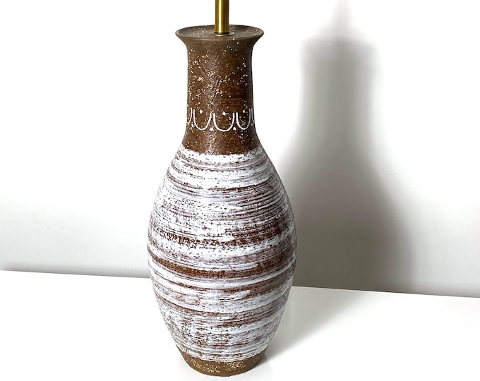 Large Aldo Londi Bitossi Modernist Ceramic Pottery Lamp 1960s
