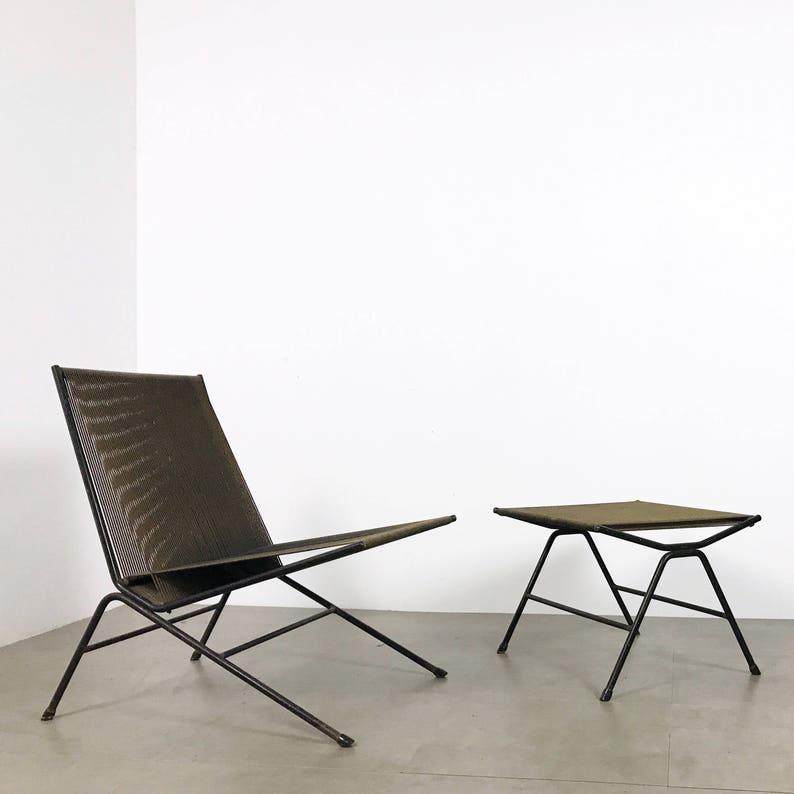 Allan Gould String Lounge Chair U0026 Ottoman 1952