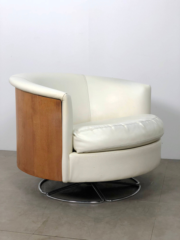 ... Barrel Back Swivel Chair By Selig, 1960u0027s. 1
