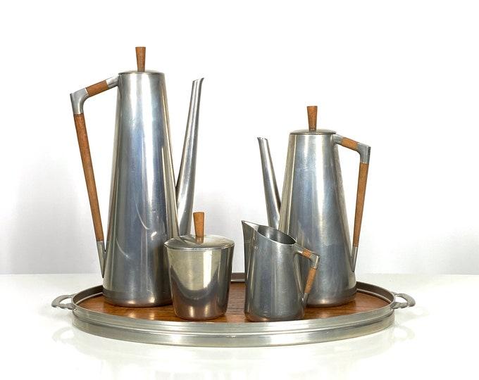 Vintage Royal Holland Pewter Tea Set 1960s