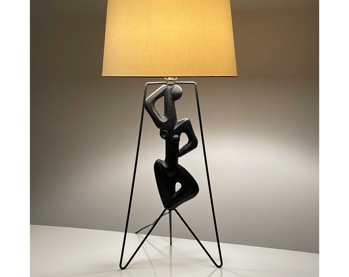 Rare Vintage Frederic Weinberg Figural Lamp 1950s