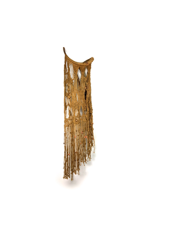 On Hold Large Vintage Fiber Art Driftwood Wall Hanging