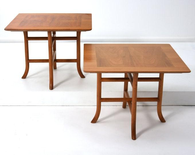 Pair Robsjohn Gibbings Sabre Leg Side Tables 1950s