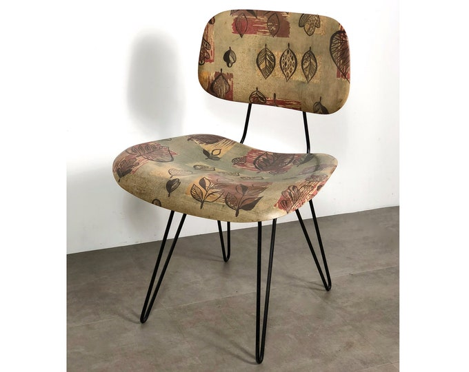 Hobart Wells for Lensol-Wells Fiberglass & Iron Chair, 1950's