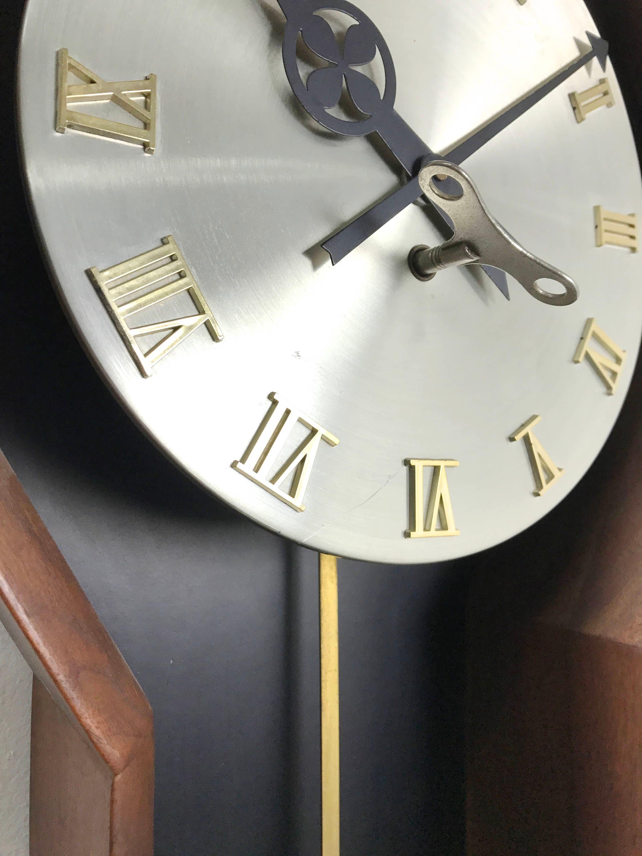 Arthur Umanoff For Howard Miller Walnut Clock 1970 S