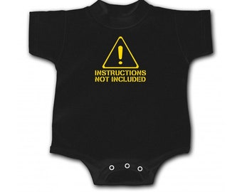 Warning: Instructions Not Included Infant Bodysuit
