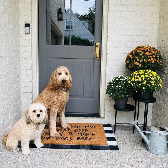 Good Reason To Make Our Dogs Bark Doormat Funny Doormat Dog Doormat Dog Lover Gift Funny Door Mat Welcome Mat Golden Doodle Doormat