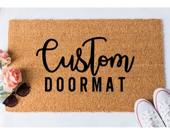 Custom Doormat - Custom Door Mat - Personalized Welcome Mat - Funny Doormat - Door Mat - Welcome Doormat - Personalised Doormat - Custom Mat