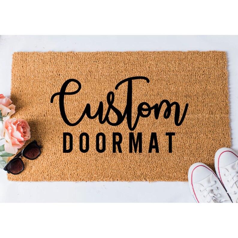 Custom Doormat Custom Welcome Mat Personalized Doormat image 0