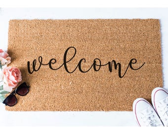 Welcome Doormat - Welcome Mat - Welcome Door Mat - Cute Door Mat - Unique Doormat - Hello Rug - Doormats - Hello Mat - Cute Doormat - Rug