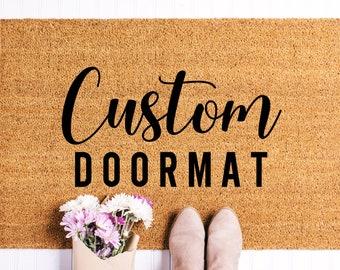 Custom Doormat, Custom Welcome Mat, Personalized Doormat, Housewarming Gift, Personalized Mat, Custom Door Mat, Doormat, Farmhouse Decor