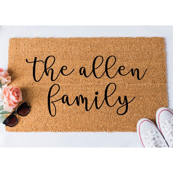 Die Familie Fussmatte Individuelle Fussmatte Individuelle Etsy