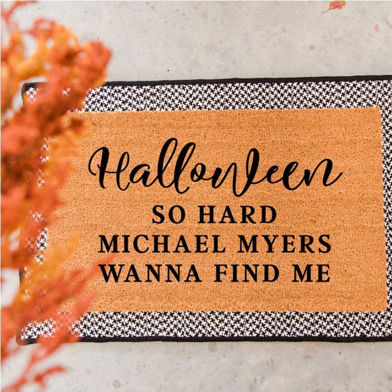 halloween so hard doormat funny doormat welcome mat etsyimage 0