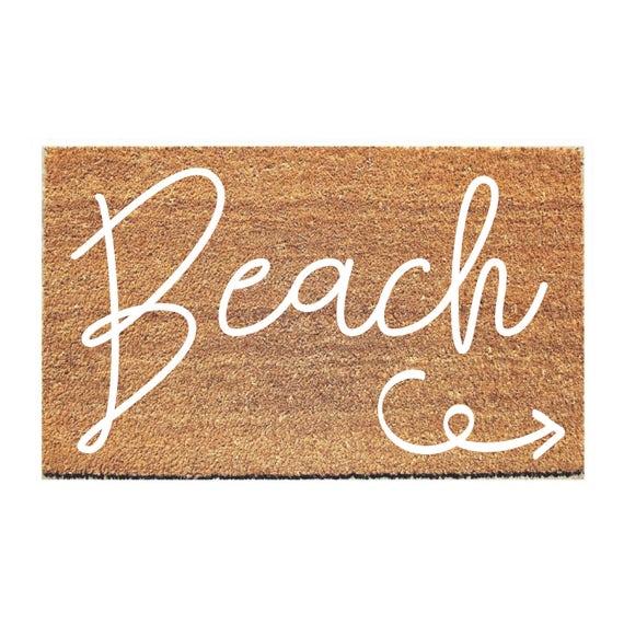 Merveilleux Beach Doormat Welcome Mat Hello Doormat Doormats | Etsy