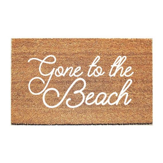 Beau Beach Doormat Hello Mat Welcome Mat Cute Doormat | Etsy