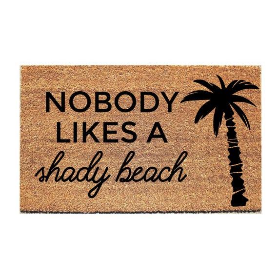 Shady Beach Doormat Funny Mat Funny Door Mat Funny | Etsy