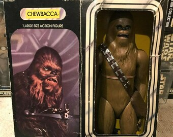 "Vintage Kenner 12"" 15"" Chewbacca Complete and Minty In Original Box, 1978 Star Wars a New Hope!"