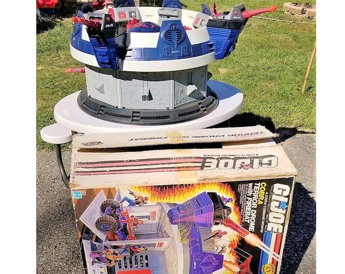 Featured listing image: 1986 Hasbro GI Joe Cobra Terror Drome Complete and Mint In Box ARAH