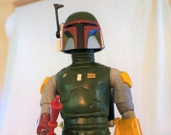 Vintage Kenner Star Wars 12 Inch Boba Fett With JetPack and String