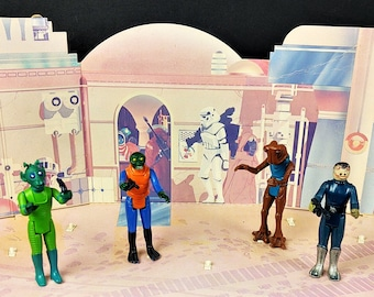C6 Blue Snaggletooth Kenner 1978 Star Wars Sears Cantina Set Complete (toe dent)