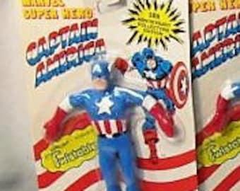 1989 Just Toys Captain America Twistable Toy Bend 'Em MOC (1@)
