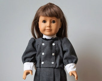 White Body American Girl Samantha Doll 1986 with School Outfit