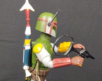 Vintage 1979 Kenner 12 Inch Boba Fett COMPLETE With Scalps, Blaster, Cape, Jet Pack, Rocket, and Cord!!!