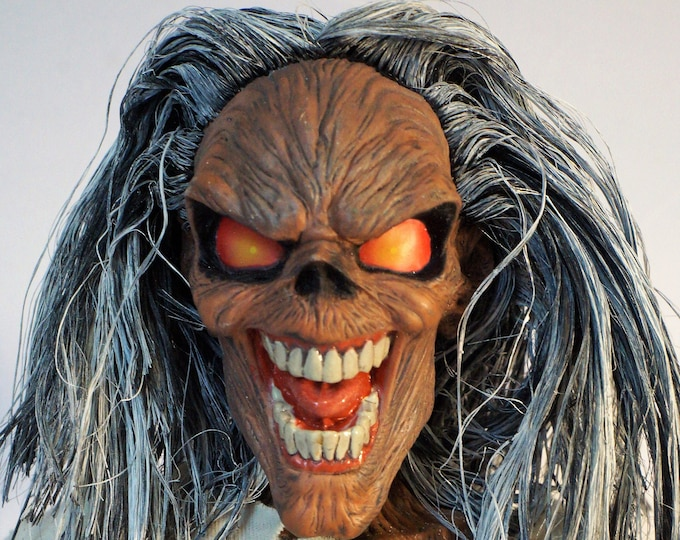 Featured listing image: Iron Maiden Eddie, Asylum Ultimate Series, 18 Inches of Bad Ass Eddie!  Mint in box!
