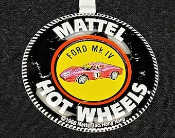 Vintage Mattel 1969 Redline Hot Wheels Ford MK IV Button, Notched Tab, Hong Kong, Unbent