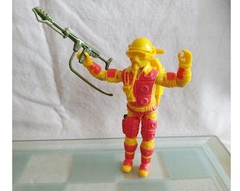 1984 Hasbro GI Joe Blowtorch, Complete, Excellent, ARAH