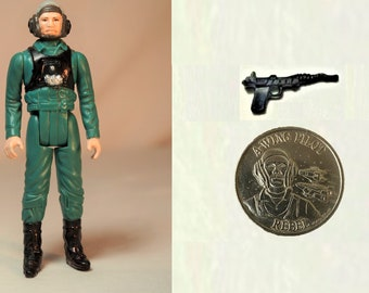 Last 17 A Wing Pilot, Kenner Star Wars POTF, Complete With Coin and Repro Gun