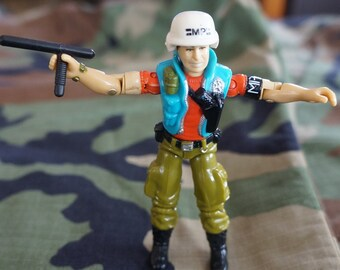 1987 Hasbro GI Joe Law and Order With Baton and Helmet ARAH