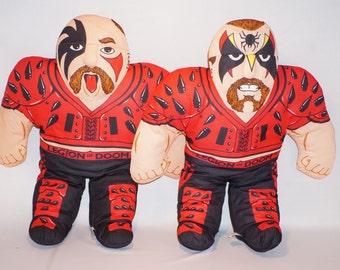Vintage Tonka Wrestling Buddies Legion of Doom Hawk and Animal HTF