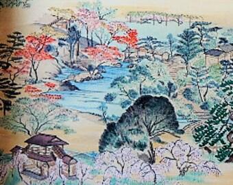 1959 Shosei-en Handpainted Japanese Garden Paintings