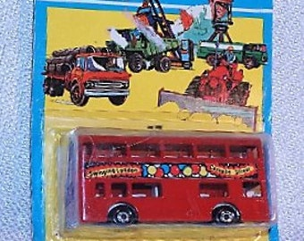 """1972 Matchbox Superfast #17 The Londoner double-decker bus """"Carnaby Street"""" Made in England MOC"""