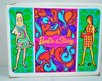 1967 Barbie & Stacey Mod-Style Double Doll Case