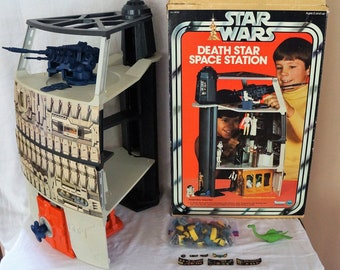 1978 Kenner Death Star Playset Complete In Box With Proof of Purchase, Instructions, and Original Trash, Dianoga and Rope!