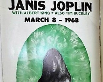 3-8-68 Big Brother and the Holding Company Featuring Janis Joplin March 8, 1968 Fillmore East Concert Poster