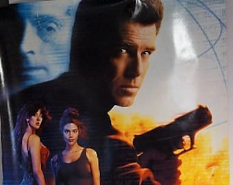 The World Is Not Enough: 007, Pierce Brosnan as James Bond, Sophie Marceau, authentic double-sided theater one-sheet poster