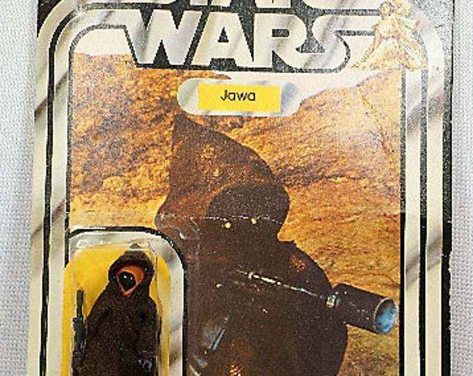 Featured listing image: 1977 Kenner Star Wars Jawa 20 back MOC!