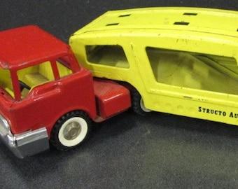 Vintage 1950s Structo Car Hauler, Whitewalls!