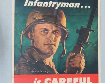WW2 U.S. War Department Army Poster -- The Battle-Wise Infantryman, 1944