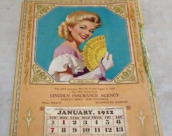 "Pinup Calendar ""Golden Girl"" -- Lincoln Insurance Agency Monmouth, Illinois"